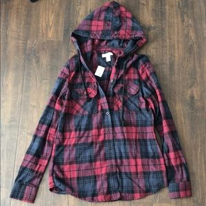 Tilly's Full Tilt Hooded Flannel